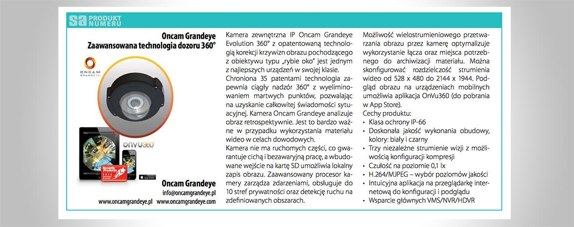 Kamera zewnętrzna IP Oncam Grandeye Evolution 360° produktem numeru magazynu Systemy Alarmowe.
