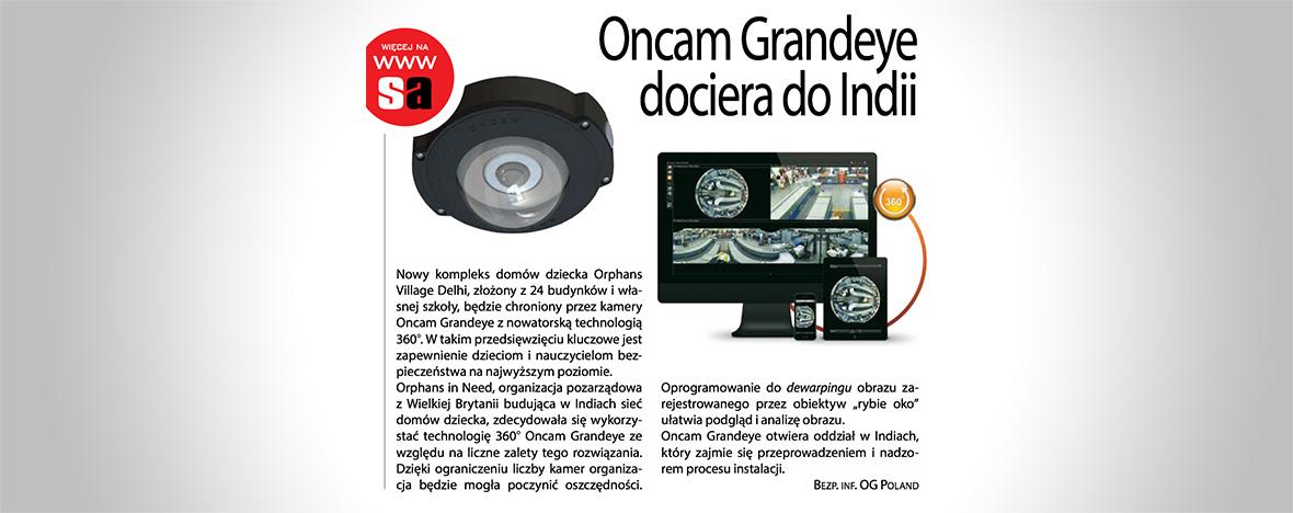 Nowe inwestycje Oncam Grandeye wIndiach.