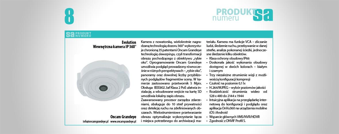 Kamera Wewnętrzna Oncam Grandeye IP 360° Produktem Numeru magazynu Systemy Alarmowe.