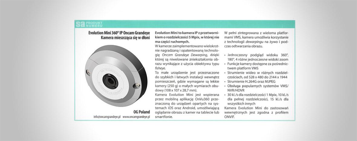 Kamera Evolution Mini Oncam Grandeye IP 360° Produktem Numeru magazynu Systemy Alarmowe.